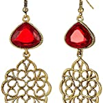 Multi Gold Plated Alloy Crystal Fashion Dangle & Drop Earring