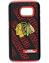 Forever Collectibles Samsung Galaxy S6 Edge Licensed NHL Dual Hybrid Case 2-Piece Chicago Blackhawks