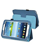 eForCity Leather folio case with Stand Compatible with Samsung Galaxy Tab 3 7.0 Kids / Galaxy Tab 3 7.0 P3200, Navy Blue(PSAM3200LC05)
