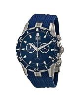 Edox Grand Ocean Chronograph Blue Dial Blue Rubber Men'S Watch - Ex10022-357B-Buin