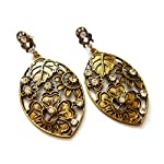 Antique golden earrings with stone finish from Violetsz