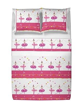 Casual Textil Juego de Sábanas Circus (Rosa)