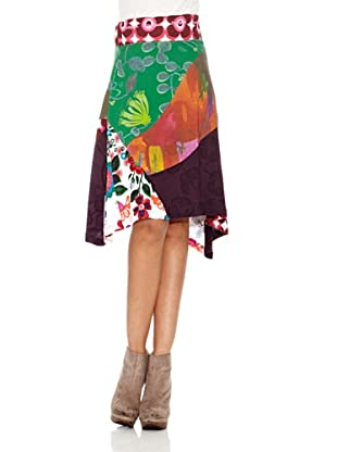 Desigual Falda Concha (Granate Medio)