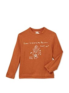 """kicokids Boys """"Education"""" Smarty Quote Tee (Amber)"""