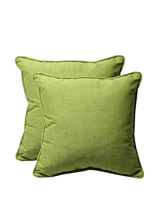 Pillow Perfect Set of 2 Outdoor Baja Throw Pillows, Lime Green