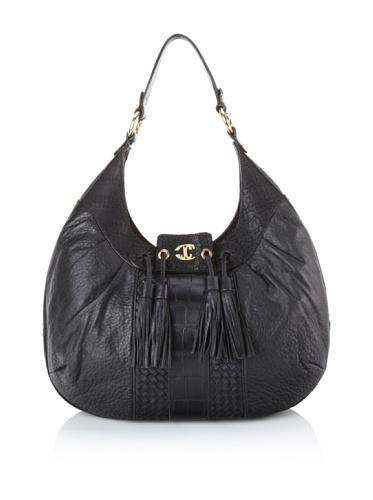 Just Cavalli Women's Tasseled Hobo, Black