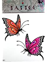 GGSELL GGSELL KING HORSE Large size 11.81 x 8.66 Inches 2 colorful butterlies new big design fake tattoos stckers