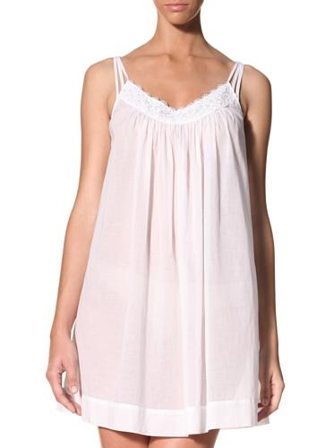 Oscar de la Renta Women's Seaside Breeze Solid Lightweight Lawn Gown (White)