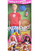 Barbie - Pizza Party KEVIN Doll with Pizza Hut Pizza & More (1994)