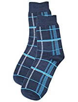 69th Avenue Men's Cotton Socks (Blue)