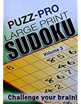 Puzz-Pro Large Print Sudoku Puzzle Book Volume 3