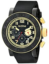 red line Men's RL-50052-BB-01-GA Xlerator Analog Display Japanese Quartz Black Watch