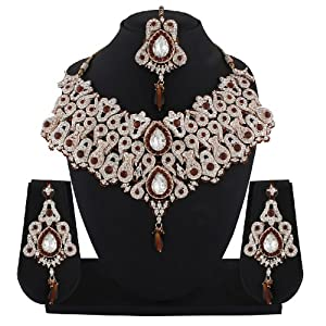 Classy Brown Bridal Patwa Necklace Set