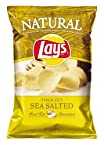 Lays Natural Thick Sea Salt Flavored Potato Chips, 8.5oz Bags (Pack of 6)