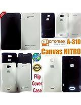 MBW Micromax nitro 310 flipcover Black colour Available