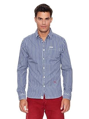 Pepe Jeans London Camisa Bartle (Azul / Blanco)