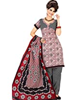 atisundar delicate Maroon & White Traditional Cotton Printed Salwar Suit- 4326_39_5037