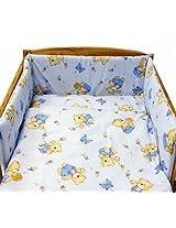 """Blueberry Shop Baby Cot Bed Bundle Duvet+Pillow Covers 35.5"""" x 47"""" (90Cmx120Cm) Blue"""