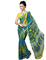 Riti Riwaz Saree With Unstitched Blouse (KRS1085_Multi)