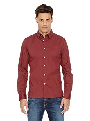 Pepe Jeans London Camisa Ridley Stretch (Rojo)