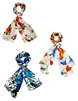 Valentine Gift - Set of three trendy Stoles, scarf and dupatta multi...