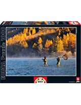 Two Men Fishing Educa 1000 Piece Puzzle