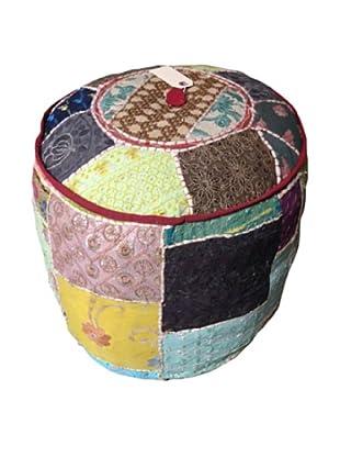 Round Gypsy Ottoman, Multi