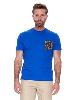 Cortefiel Camiseta Bolsillo (Azul)