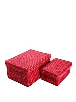 Zings Set 2 Cajas Rectangulares Rojo