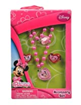 Minnie Mouse Bow-tique Jewelry Set Necklace Bracelet and Rings
