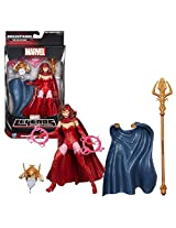 "Hasbro Year 2015 Marvel Legends Build A Figure ""The Allfather"" Infinite Series 6 Inch Tall Figure Maidens Of Might Scarlet Witch With 2 Flame Rings Plus The Allfathers Head, Cape And Trident Staff"