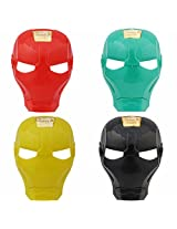 Super Hero Iron Man Face Mask - Set of 4 - Red, Green, Yellow, Black