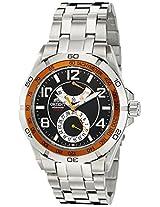 Orient Men's CFM00002B Power Reserve Semi-Skeleton Black Automatic Watch