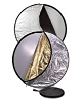STUDIOHUT SH-32-5IN1 32-Inch 5-In-1 Photography Multi Reflector Portrait Studio Collapsible Round Reflector with Carry Bag (Black)