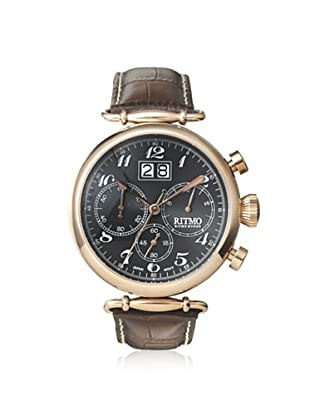 Ritmo Mundo Men's 701/5 RG Corinthian Brown/Black Stainless Steel Watch