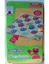 Elmo & Cookie Monster Checkers in Tin 2005