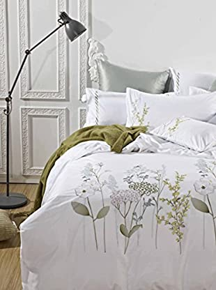 Mélange Home Spring Blossom Embroidered Duvet Set