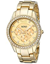 XOXO Women's XO5475 Rhinestone-Accented Gold-Tone Bracelet Watch