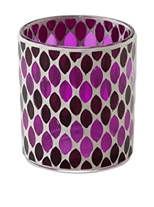 Shiraleah Mosaic Votive (Berry)
