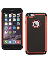 DMG Hybrid Dual Layer Armor Defender Protective Case Cover for Apple iPhone 6 6S 4.7in (Red)