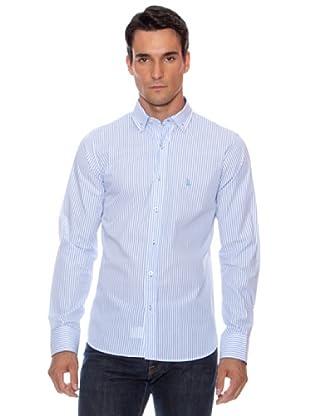 Devota & Lomba Camisa Kurt Rayas (Azul Claro)