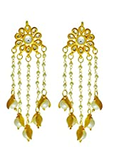 Kundan Earing with Hanging Pearl