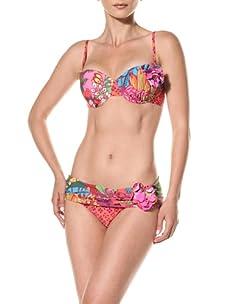 Nanette Lepore Swim Women's Polynesian Paradise Coquette Bikini Top (Tropical)