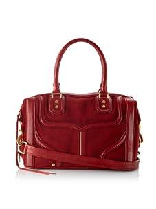 Rebecca Minkoff Women's Mab Mini Bombe Shoulder Bag, Blood Red