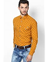Printed Mustard Yellow Casual Shirt Status Quo