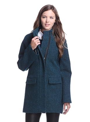 Jones New York Women's Stand Collar Coat (Teal)