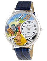 Whimsical Watches Unisex U0420008 Drama Theater Royal Blue Leather Watch