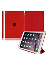 Grabmore Magnetic Smart Case Cover + Matte Finish Back Case For Apple Ipad Air Ipad 5 - White
