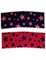 iOna Beauty Essentials Woman Tic Tac STARS Type Beauty Hair Pins Navy Blue n Orange 2