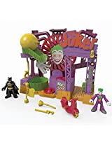 The Joker Laff Factory With Joker Figure, His Scooter, Pipe Wrench, Plunger & Rolling Trap